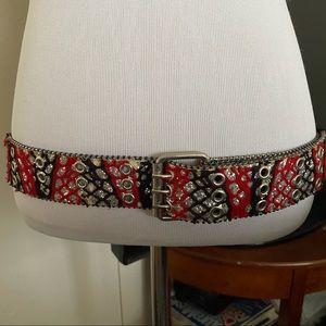 Vintage Snake Pattern Sparkle Belt